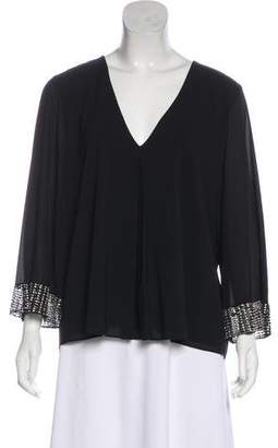 Alice + Olivia Silk Long Sleeve Blouse