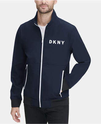 DKNY Men Logo Graphic Bomber Jacket