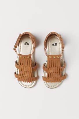 H&M Sandals with Fringe - Beige