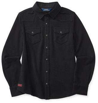 Ralph Lauren Childrenswear Girls 7-16  Western Knit Shirt $45 thestylecure.com