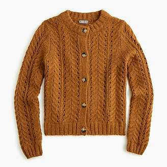 J.Crew Point Sur pointelle knit cardigan sweater