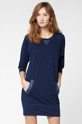 Lacoste Raglan Sleeve Sweatshirt Dress With Denim Trim