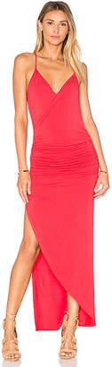 Krisa Asymmetrical Ruched Maxi Dress