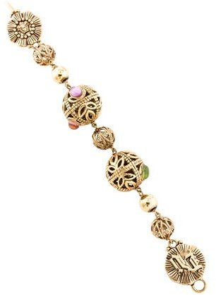 VersaceVersace Textured Bead Bracelet