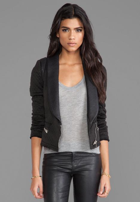 IRO Ashby Leather Trim Jacket