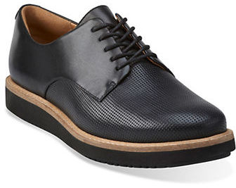 Clarks Clarks Glick Darby Platform Leather Oxfords