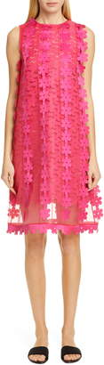 PASKAL clothes Floral Applique Double Layer Shift Dress