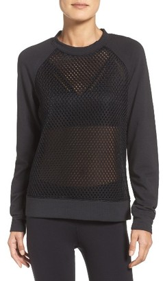 Women's Alo Elemental Mesh Pullover $148 thestylecure.com