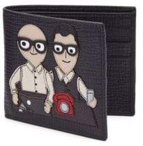 Dolce & Gabbana Moustache Man Leather Bifold Wallet
