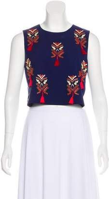 Elle Sasson Silk Embellished Top