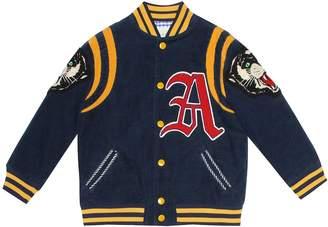 Gucci Kids Appliqued corduroy bomber jacket