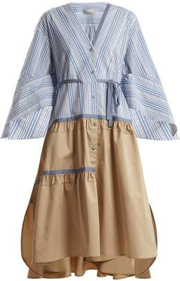 Palmer Harding PALMER/HARDING Manon striped cotton-poplin dress