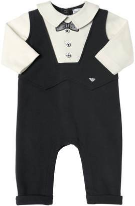 Emporio Armani Suit Cotton Interlock Romper