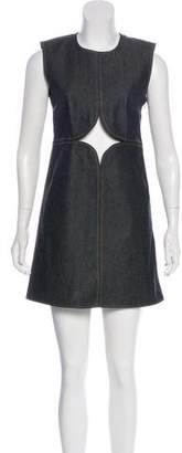 Courreges Cutout Denim Dress