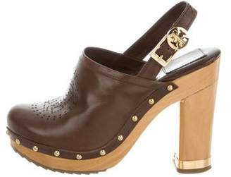 Tory Burch Brayden Leather Clogs