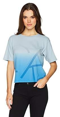 Calvin Klein Jeans Women's Short Sleeve Dipdye Oversized Fit Cropped T-Shirt