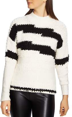 1 STATE 1.STATE Striped Multi-Texture Sweater