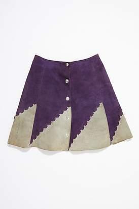 Vintage Loves Vintage 1960s Two-Toned Suede Skirt
