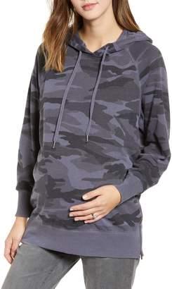 Splendid Camo Hooded Maternity Sweatshirt