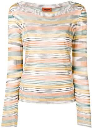 Missoni multicoloured stripe knitted top
