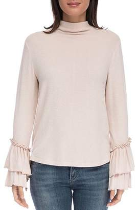 Bobeau B Collection by Linda Ruffle-Sleeve Top