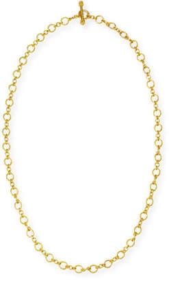 "Elizabeth Locke Riviera 19k Gold Link Necklace, 31""L"