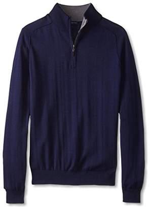Thirty Five Kent Men's Silk/Cotton Saddle Seam Quarter Zip