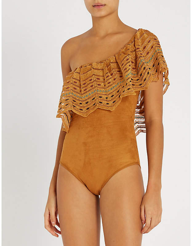One-shoulder swimsuit