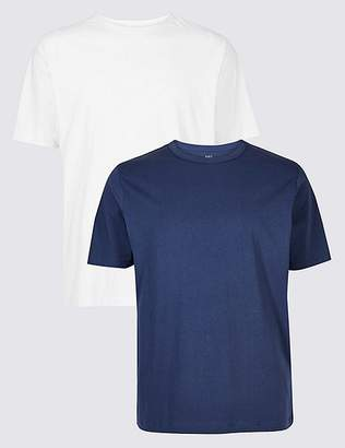 Marks and Spencer 2 Pack Pure Cotton Crew Neck T-Shirts