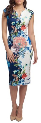 Women's Eci Print Notch Neck Sheath Dress $88 thestylecure.com