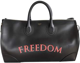 Bertoni Black Leather Travel Bag