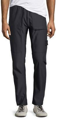 Stone Island Men's Stretch-Nylon Straight-Leg Pants