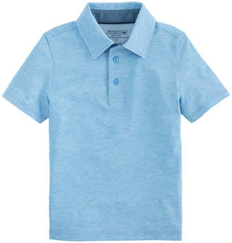 Vineyard Vines Boys Carmel Heather Polo