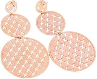 Rebecca Pink Metal Earrings