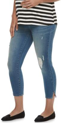 A Glow Maternity a:glow Full Belly Panel Capri Jeans