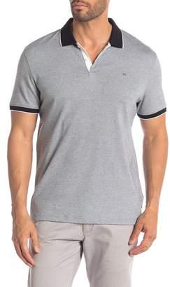 Calvin Klein Contrast Tipped Short Sleeve Polo