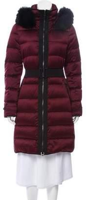 Burberry Down Fur-Trimmed Coat