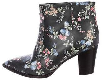 1ba22b04c2 Laurence Dacade Leather Floral Ankle Boots
