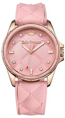 Juicy Couture Women's 1901371 Malibu Analog Display Japanese Quartz Pink Watch $185 thestylecure.com