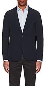 Herno Men's Tech-Poplin Two-Button Sportcoat-Navy