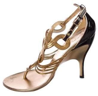 Gucci Leather Multistrap Sandals