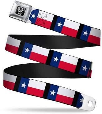 "Buckle Down Buckle-Down Unisex-Adult's Seatbelt Belt Texas XL Flag/Black 1.5"" Wide-32-52 Inches"