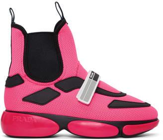 Prada Pink Cloudbust High-Top Sneakers
