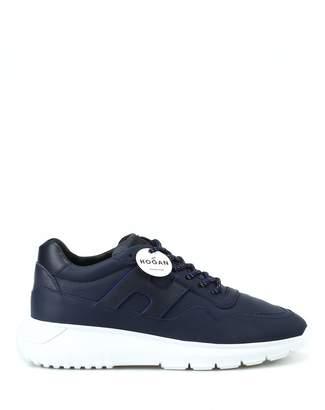 Hogan Interactive Dark Blue Leather Sneakers