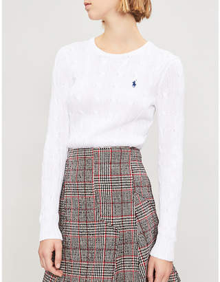 Polo Ralph Lauren Julianna cable-knit cotton jumper