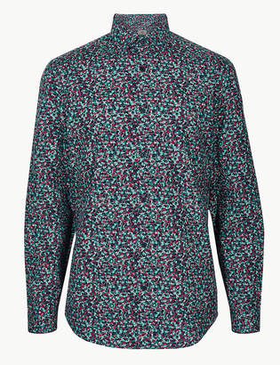 M&S CollectionMarks and Spencer Pure Cotton Floral Print Shirt