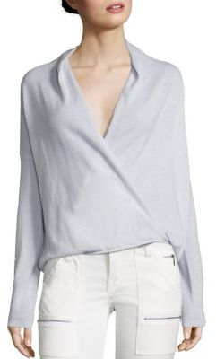 Joie Lien Jersey Cashmere Crossover Sweater $328 thestylecure.com
