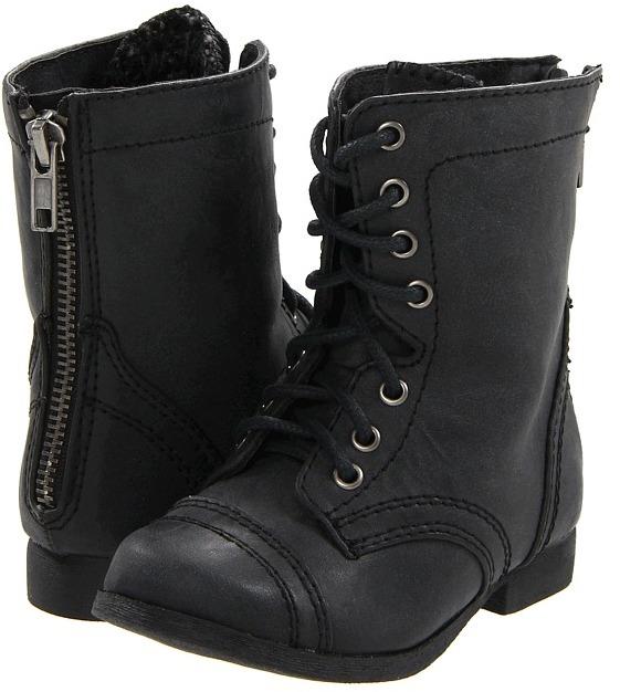 Steve Madden Cablee (Toddler) (Black) - Footwear