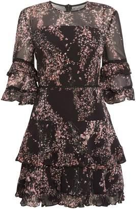 Keepsake Sheer printed mini dress