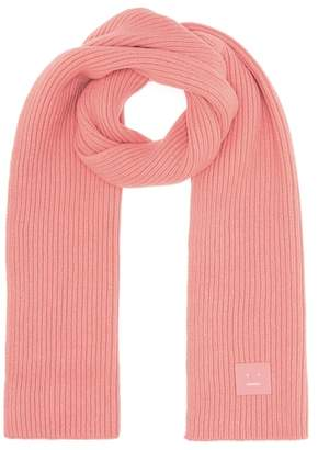 Acne Studios Bansy Face wool scarf